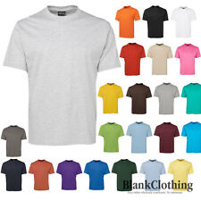 Mens Plain 100% Cotton T-Shirt | Adults Unisex Blank Tee Shirt | Plus Size S-5XL