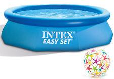 3in1 Gartenpool 244x76 Intex Easy-set Quick Up Pool Filterpumpe GS 12v 28110