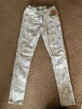 Girls Next Summer Flower Patterned Skinny Fit Jeans Trousers Age 10 140cm BNWT