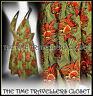 Kate Moss Topshop Vintage 50s Liberty Rope Halterneck Dress Orange Green UK 8 10