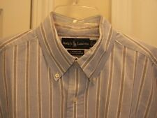 Ralph Lauren Men's 16.5 X 37 Dress Shirt Long Sleeve Multi Color Striped