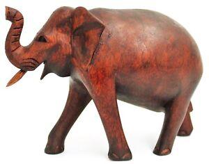 Wunderschöner Elefant 18 cm Glücks Elephant Suar Holz Afrika Tier Dekoration