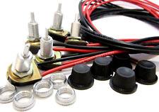 5 pack - Leviton Rotary Lamp Switch On-Off Black Knob Metal Shaft 3A 125VAC K*