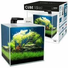 Ciano Shrimp Aquarium Tank CUBE 15 with CF40 Internal Filter Led Lighting 14.5L