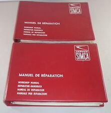 Officina Manuale/Workshop Manual SIMCA 1300/1500 DAL ANNO DI COSTRUZIONE 1963