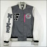 Nike Air Force 1 Destroyer Varsity Bomber Jacket | Small | Grey/Pink | Rare
