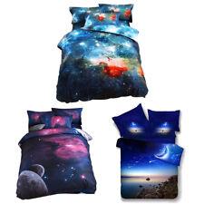 Universe 3D Literie Espace Cosmos étoile ciel ensembles Set HOUSSE DE COUETTE
