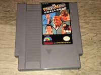 WWF Wrestlemania Challenge Nintendo Nes Cleaned & Tested Authentic