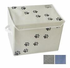 Feline Ruff Large Dog Toys Storage Box 16 x 12 inch Pet Toy Storage Basket wi