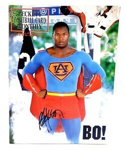 Bo Jackson Hand Signed Autograph 1991 Beckett Auburn Tigers Super Man With COA
