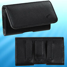 Black Cray Textured Horizontal Cell Phone Holder Pouch Side Belt Clip Holster