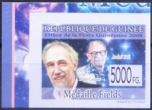 Guinea 2008 MNH Imperf, Mathematicians Andre Weil & Alain Connes