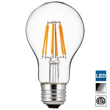 Sunlite LED Edison-Style A19 Bulb, 5 Watt, Dimmable, 5000K Super White