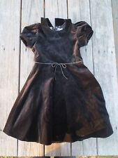 Crewcuts ~ Girls Black Velveteen Holiday Party Dress ~ Size 6-7