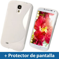 Blanco S Line Funda TPU Gel para Samsung Galaxy S4 IV I9500 I9505 Carcasa