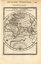 EASTERN HEMISPHERE. Australia incomplete. Asia Africa Europe. MALLET 1683 map