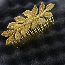 Gold shiny Laurel Leaf crown Leaves hair comb greek toga roman costume athena AG