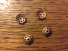 Copper plated bead caps approx 6mm  x 100 pack y