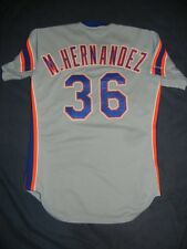 GAME USED WORN Rawlings NEW YORK METS MANNY HERNANDEZ 1989 Jersey 42 Gooden Cone