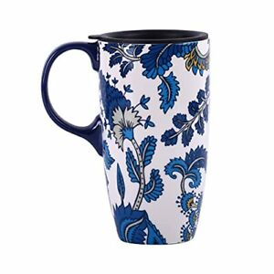 Topadorn Ceramic Mug with Lid and Handle17oz. Tall Coffee Cup for HomeParty a...