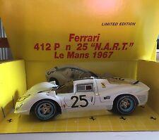 "Ferrari 412 P Nº25 ""N.A.R.T."" Le Mans 1967 Jouef Evolution Scala 1:18 LIMITED E"