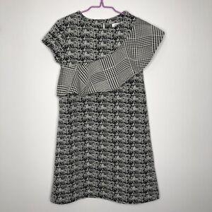 Girls NEXT 7 Years Casual Short Sleeve Black White Warm A-Line Dress