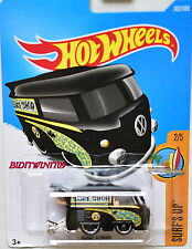 HOT WHEELS 2017 SURF'S UP KOOL KOMBI #2/5 BLACK