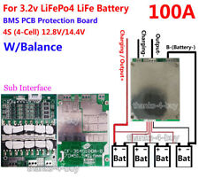 12V 100A LiFePo4 Battery BMS LFP PCM SMT System 4S x 3.2V eBike Battery Balance