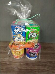 Breakfast Gift Box/Cereal/ Oatmeal/ Cereal Bars/ College Kid / Dorm 12 Items NEW