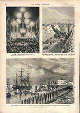 Portsmouth Troop Ashanti Campaign Great Britain / Arras-Etaples Pont PRINT 1874