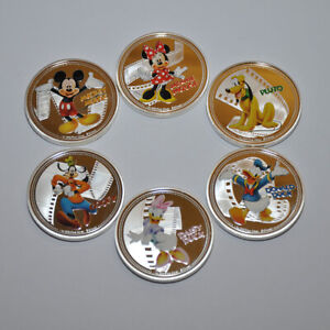Disney Characters Collectable Coin Bundle Set Silver Plated Gift coins fans