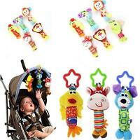 Baby Soft Plush Toy Handbell Stroller Car Pram Rattle Bell Hanging Stuffed Gift