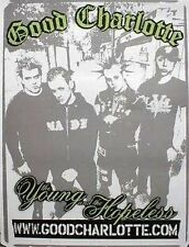 Good Charlotte 2003 young and hopeless promo poster ~Mint~New old stock~!