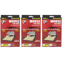 12 PC MOUSE MICE STICKY GLUE TRAPS Rodent Pest Control Tray Board Disposable Lot
