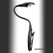 SsMook Mini White LED Clip Booklight Flexible Portable Travel Book Reading Light