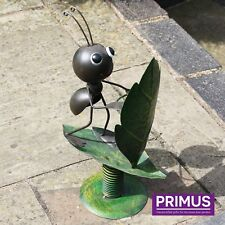 Primus Hand Crafted Surfin' Ant Metal Garden Wobbler Sculpture Insect Ornament