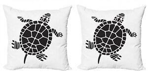 Ambesonne Turtle Pattern Cushion Cover Set of 2 for Couch and Bed in 4 Sizes