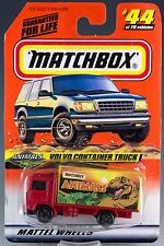 Matchbox MB 44 Volvo Container Truck Red 1998 Mint On Card