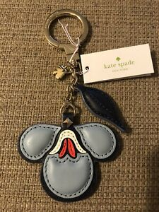 NWT Kate Spade Blazer Blue Floral Key Chain / Fob Great Office Gift