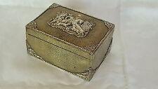 Berthold Muller solid silver & shagreen vintage Victorian antique hunting box
