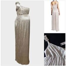ROCK A BYE ROSIE SILVER SPARKLY MATERNITY MAXI DRESS PARTY EVENING SIZE 8 RP£125