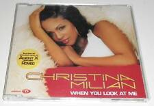 CHRISTINA MILIAN - WHEN YOU LOOK AT ME - 2002 UK ENHANCED CD SINGLE