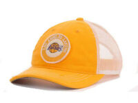 Los Angeles Lakers Adidas NBA Delray Adjustable Snapback Mesh Basketball Hat Cap