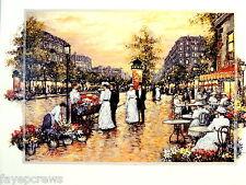 PARIS PROMENADE #2 PICTURE LADIES GENTLEMEN DINING SHOPPING PRINT  16X20