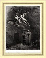 INFERNO: Le Furie della Città di Dite. Doré. Divina Commedia.Dante.Virgilio.1890