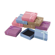 Jewelry Boxes Gift Necklace Pendant Earring Boxes Packing Square Sponge 9x9x3cm