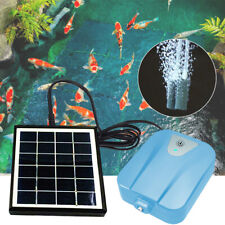 2L/min Solar DC Powered Water Oxygen Pump Pond Aerator Aquarium Airpump Tool