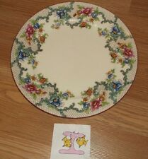 "I)VINTAGE ROYAL CAULDON VICTORIA (RED TRIM) FLORAL DINNER PLATE 10 1/4""DIAM"