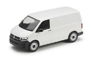 NEW GENUINE VW TRANSPORTER T6 CANDY WHITE PANEL VAN 1:87 SCALE COLLECTORS MODEL
