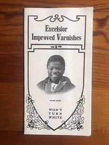 Excelsior Improved Varnishes 1910s Black Boy Advertising Brochure New York City